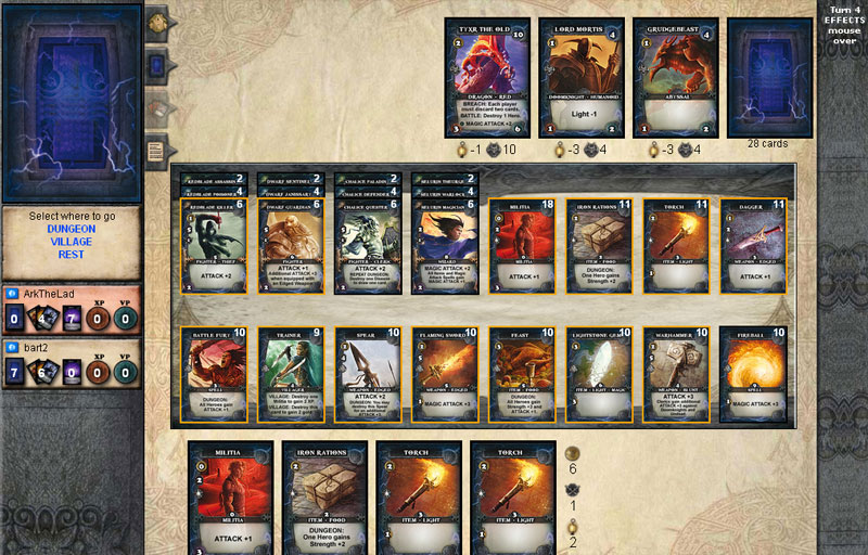 yucata rules for the game thunderstone